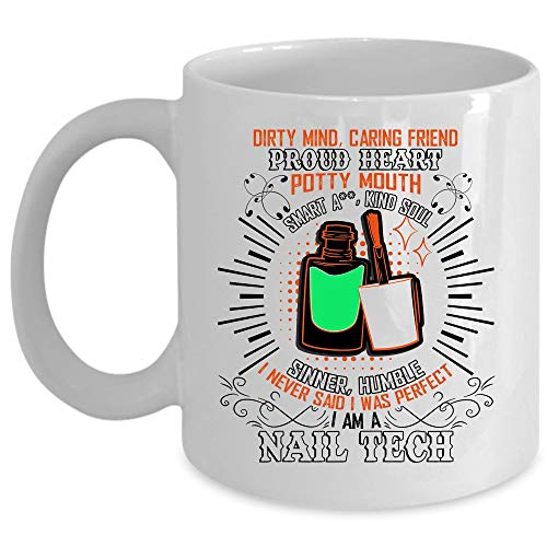 Cool Job Coffee Mug, I'm A Nail Tech Cup (Coffee Mug 15 Oz - WHITE) -