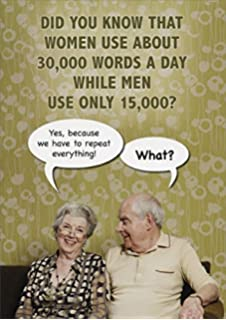 30000 Words A Day Funny Birthday Card