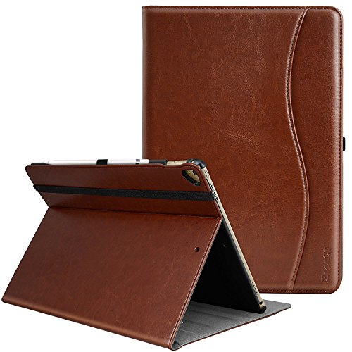 IPad Pro 12.9 Inch 2017/2015 Case, Ztotop Premium Leather Business Slim Folding Stand Folio Cover for New Apple Tablet with Auto Wake/Sleep and Document Card Slots, Multiple Viewing Angles,Brown by Ztotop