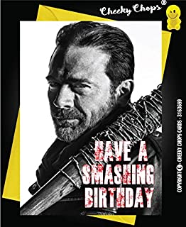 The walking dead card greeting card note card birthday card the walking dead twd negan birthday card friend boyfriend girlfriend humour c237 m4hsunfo