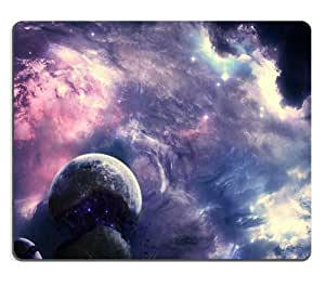 Galaxy Stellar Planets Outer Space Mouse Pads Customized Made to Order Support Ready 9 7/8 Inch (250mm) X 7 7/8 Inch (200mm) X 1/16 Inch (2mm) High Quality Eco Friendly Cloth with Neoprene Rubber Luxlady Mouse Pad Desktop Mousepad Laptop Mousepads Comfortable Computer Mouse Mat Cute Gaming Mouse pad by icecream design