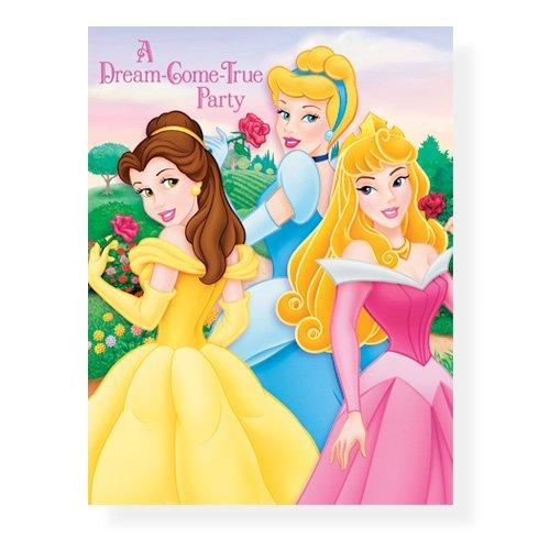 Disney Fairytale Princess Invitations - 8 Count