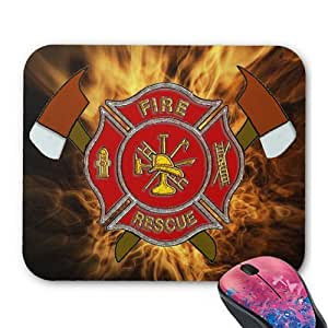 Ff Inferno Personalized Rectangle Mouse Pad Oblong Gaming Mousepad Office Accessory And Gift In 10x8 Inch Middle Size