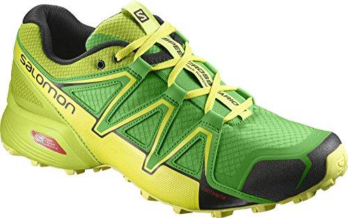 Salomon Homme Speedcross Vario 2 Chaussures de Course à Pied et Trail Running, Synthétique/Textile, Vert, Pointure : 45 1/3