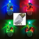 Aquarium Night Light Tropical Fish LED Night Light, Color-Changing, Automatic On/Off