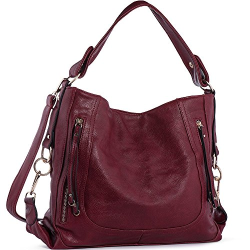 Women Ladies PU Leather Top Handle Bag - 8