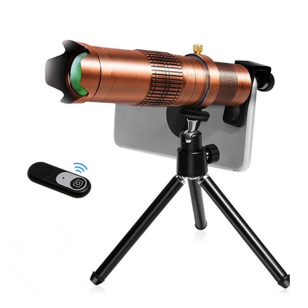 EGCLJ Mobile Phone Telescope - Monocular Telescope - Multi-Function Telescope - Bird Watching Camping - 22X (Color : A)