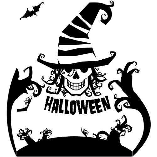 Halloween Wall Stickers, Forthery Self Adhesive Removable Wall