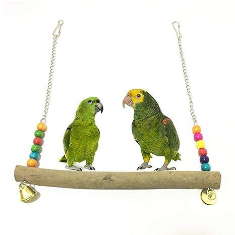 Whiie891203 Juguete para Loros de pájaros, Perchero de Madera para ...