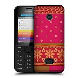 Fuchsia Saree Protective Snap-on Hard Back Case Cover For Nokia 208