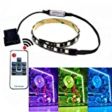 PC Case Light RGB LED Strip Light with Remote Control and Magnetic for Computer Case(1x 11.8inch)
