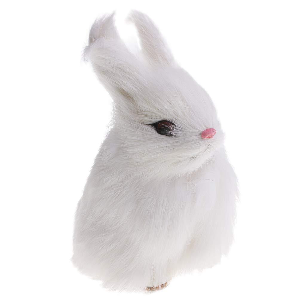Fenteer Weiß Tiere Kaninchen Plüschfigur Plüschtiere Plüschhase Tiere Spielzeug für Kinder - 7 cm