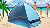 Laylala® Outdoor Automatic Pop up Instant Portable Cabana Beach Tent 2-3 Person Camping Fishing Hiking Picnic Anti UV Beach Tent Beach Shelter(Blue)