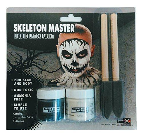 Skeleton Makeup Kit (Skeleton Master Liquid Latex Paint Kit Makeup)
