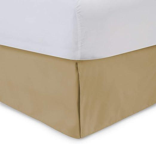 Amazon.com: Harmony Lane Tailored Bedskirt   18 inch Drop, Gold