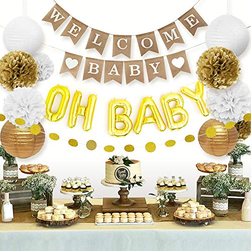 Sweet Baby Decorations Neutral Lanterns product image