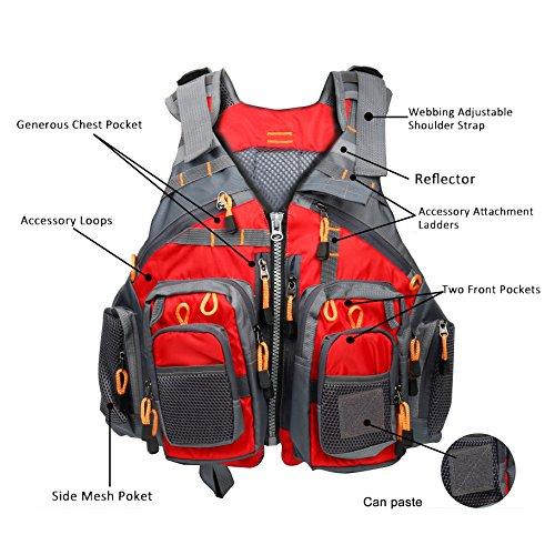 Amarine-made Fly Fishing Vest Pack Fishing Vest Fishing Sling Pack Fishing Backpack