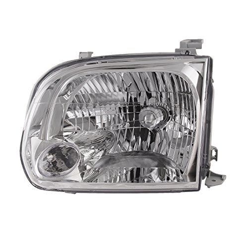 me Housing Halogen Headlight Compatible with Toyota Sequoia Tundra Includes Left Driver Side Headlamp ()