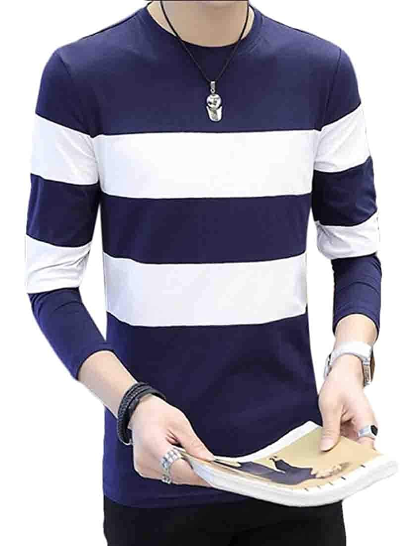 GAGA Mens Casual Color Block Knitwear Sweaters Pullover Assorted Fashion Tee