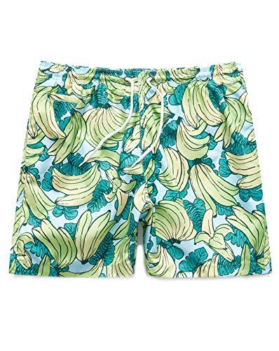 Trunks Surf & Swim Co. Men's Printed Banana Palm San O Swim Shorts (Cloud, Medium) (Palm Trunks Springs)