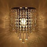 Generic Modern Crystal Chandelier Wall Light Lighting Fixture 220V E14 LED Ceiling Lights