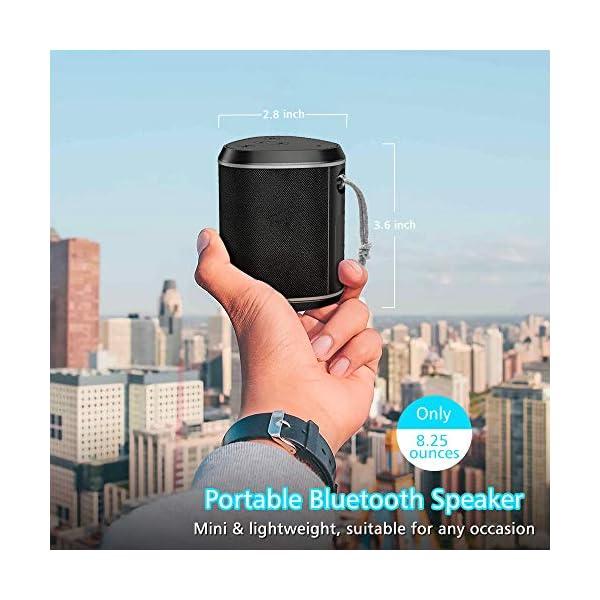 Cocoda Enceinte Bluetooth Portable, Mini Haut Parleur Sans Fil avec Sonore Stéréo, Basses Puissantes, Technologie TWS, Portée Bluetooth 18M, Support AUX/Carte TF, Étanche IPX6 Enceintes pour Extérieur 4
