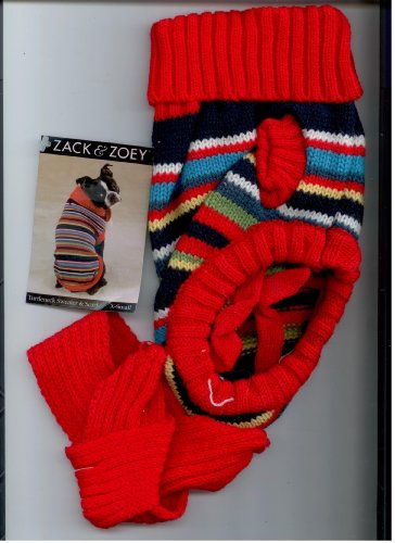 Z and Z Multi-Bright Turtleneck Sweater Med, My Pet Supplies