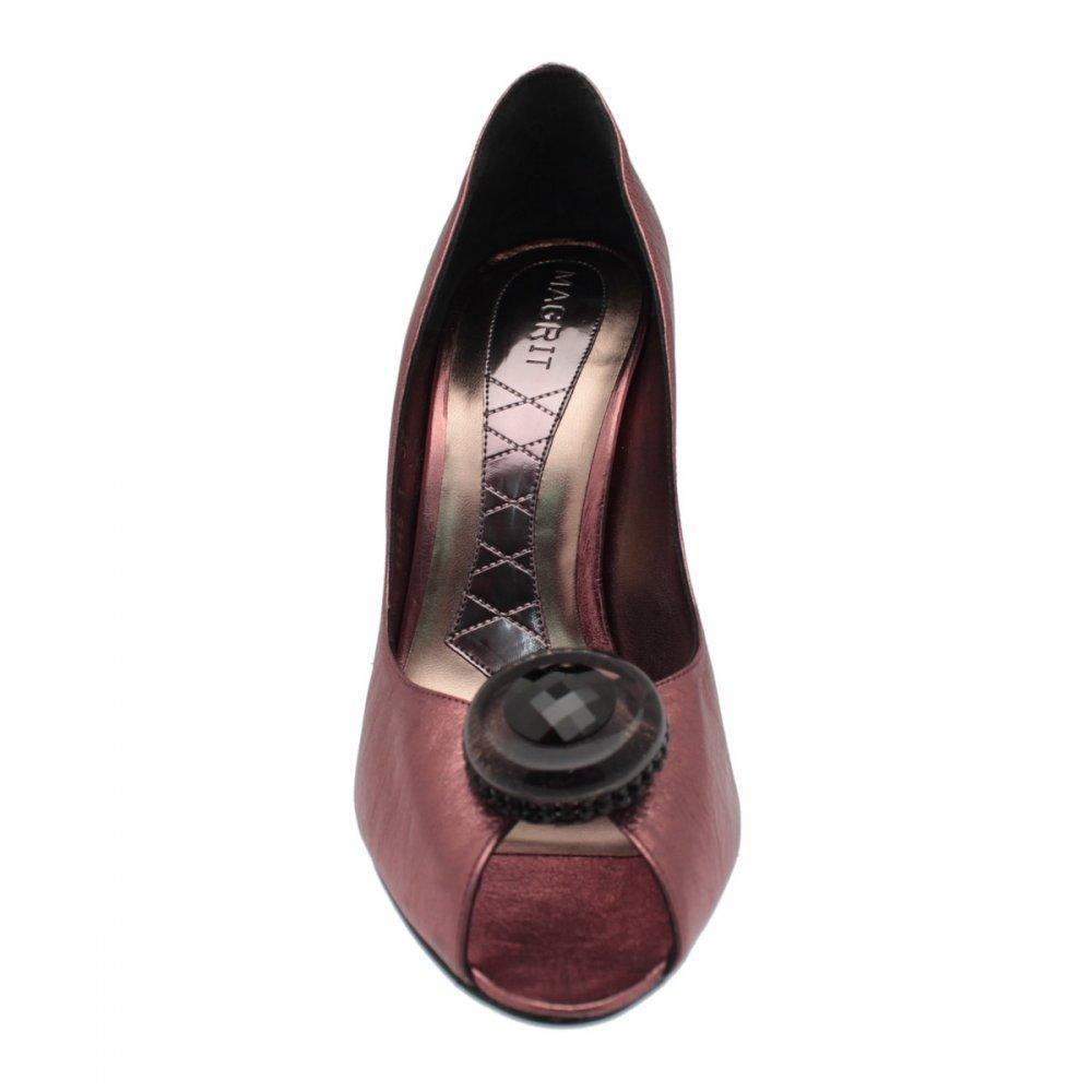 Magrit - Zapatos de Violeta Vestir para Mujer Morado Violeta de 07376b
