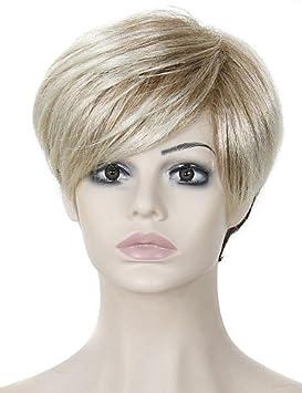 resistentes al calor peluca de pelo falso pelucas sintéticas cortas baratos para las mujeres
