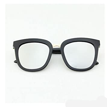 ZHANG Lunettes de soleil femme lunettes personnalité miroir visière ronde vague rétro de conduite des lunettes de soleil hommes yourte, Q