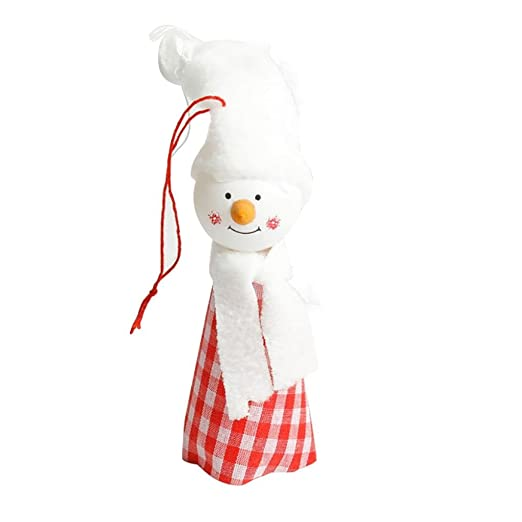 amazoncom christmas home decortoystreenomeni christmas tree decoration snowman angel ornament holiday small gift dolls red a clothing - Amazon Christmas Home Decor