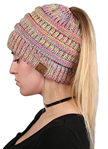 BT-6800-816.41 - Four Color Ribbed BEANIETAIL - Rainbow Combo (#11)