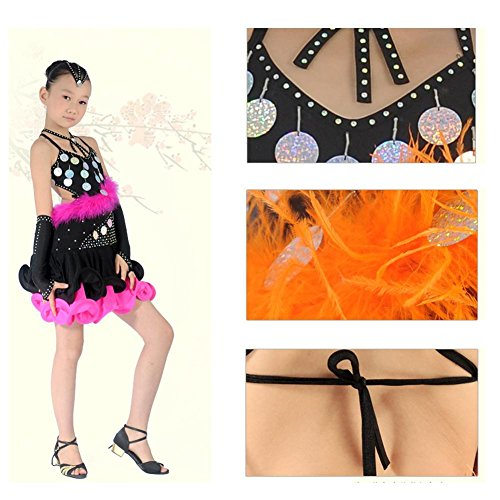 650bbccba Wgwioo Children S Student Straps Latin Dance Performance Costumes ...