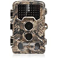 RAGU Trail Camera Hunting Camera 12MP 1080P HD IP56 Waterproof Surveillance Scouting Game Camera with Black Infrared LEDs, 2.4 LCD Display, 125° Wide Angle and 80ft Detection Range