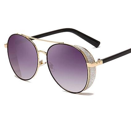 Gafas de sol redondas Steampunk mujeres y hombres, marco de ...
