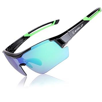 w h e e l u p - Gafas de Sol polarizadas para Hombre, para esquí, conducción, Golf,