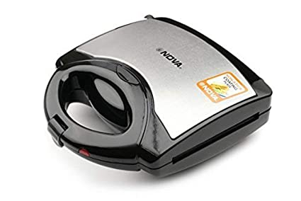 (CERTIFIED REFURBISHED) Nova NSM 2403 750-Watt 3-in-1 Sandwich Maker (Black/Grey)
