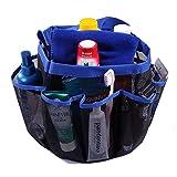 HDE Shower Caddy Mesh Bag College Dorm Bathroom Carry Tote Hanging Organizer (Blue)
