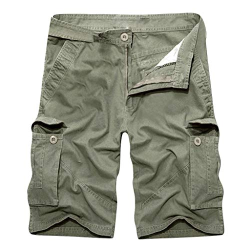 Mens Shorts Casual Stretch Waist Cargo Big and Tall Drawstring Relaxed Fit Denim