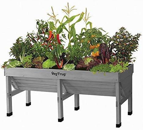 Pflanzen K/ölle Hochbeet VegTrug gro/ß 180x78x80 cm grau ca