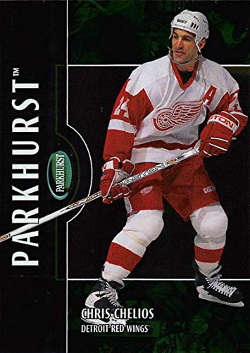 (2002-03 Parkhurst Hockey Card #54 Chris Chelios Detroit Red Wings Official ITG In The Game NHL Trading Card)