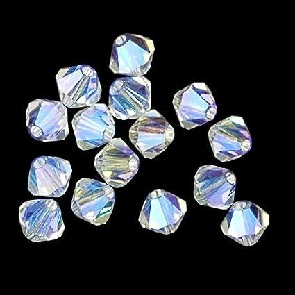 3dfa1dfeba5d0 50 pcs 8mm Swarovski 5301 Crystal Bicone Beads, Shadow Crystal AB, SW-5301