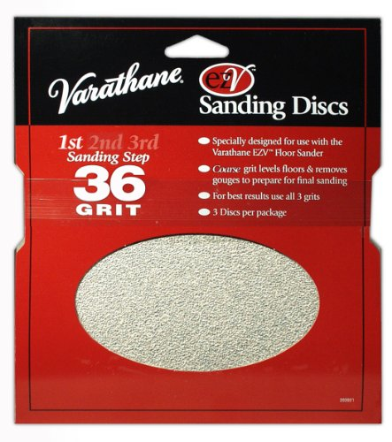 Rust-Oleum 203930 Varathane 36 Grit Sand Discs for EZV Floor Finish Sanders, - Ezv Discs Sanding