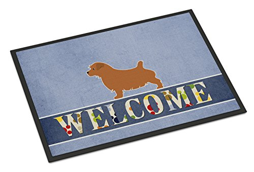 Caroline's Treasures BB5513JMAT Norfolk Terrier Welcome Doormat, 24 x 36, Multicolor