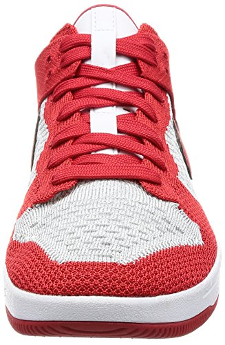 NIKE University Scarpe Flyknit wolf Grey Dunk da Uomo Red Basket White TTAOxqw