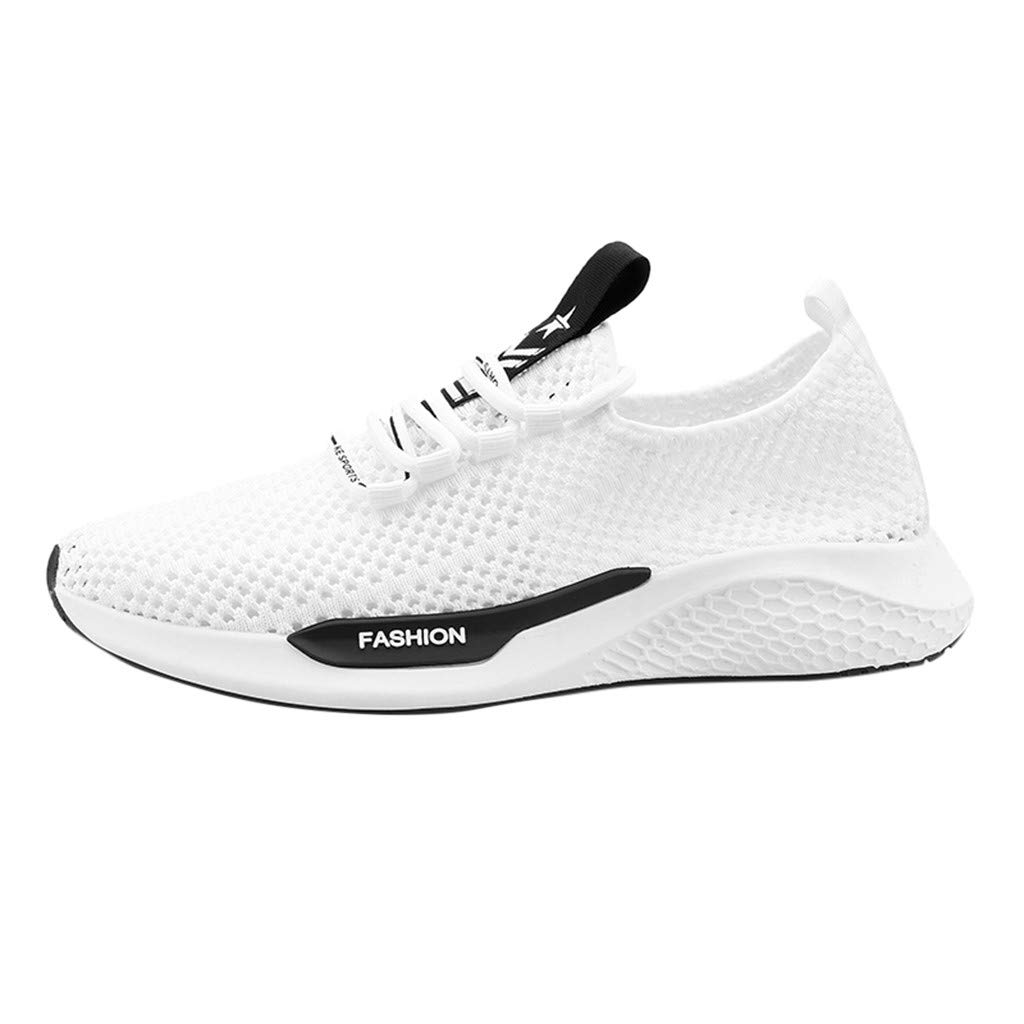 Mens Breathable Surface Sport Shoes,Males Canvas Lace up Lightweight Athletic Solid Running Sneakers{Low Tide}