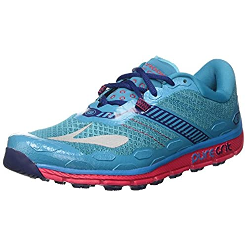 5e615874f52 lovely Brooks PureGrit 5 Peacock Blue Virtual Pink Patriot Blue Women s  Running Shoes Size