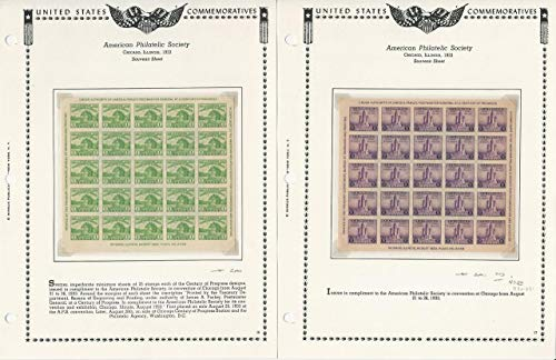 United States, Postage Stamp, 730-731 Mint NH, 1933 Sheets Minkus Pgs, JFZ