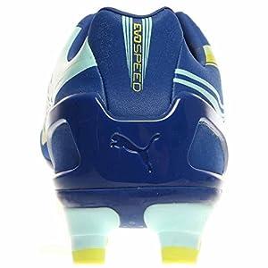 PUMA Women's Evospeed 3.2 FG Soccer Shoe,Monaco Blue/Sulfur Spring/Sunny Lime,8 B US