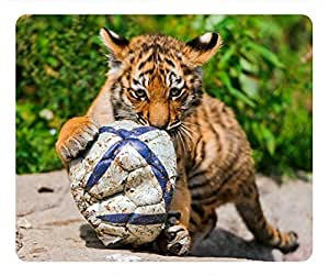 Tiger baby playing Masterpiece Limited Design Oblong Mouse Pad by Cases & Mousepads by icecream design